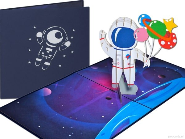 Cartes Popcards Popcards - Space Space Astronaut cosmonaut Space Travel Spaceman Spaceman NASA Spacewalk Spacewalk Moon Atterrissage Carte Pop Up