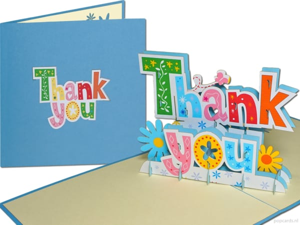 Popcards popup cards - thank you letters words thank you thank you thank you thank you thank you thank you thank you card