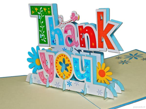 Popcards popup cards - thank you letters words thank you thank you thank you thank you thank you thank you thank you card big letters 3d card