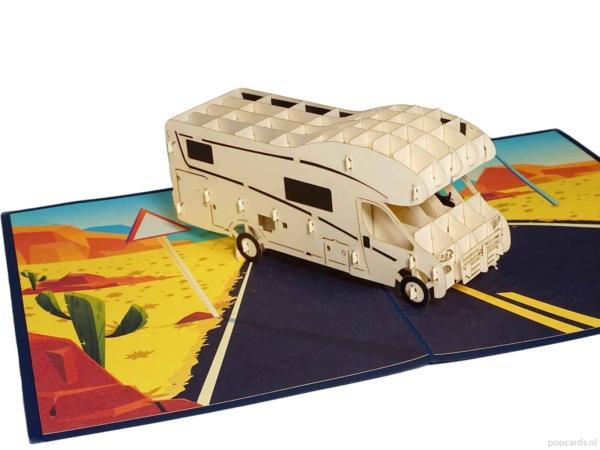 Popcards popup-kort - Alcove Husbil Husbil Husvagn Camping Semester Frihet Pension integrerad halvintegrerad husbil gratulationskort 3d-kort