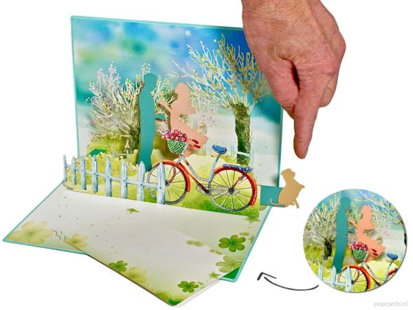 Popcard popcards carte - coppia innamorata coppia romanticismo bicicletta cane san valentino matrimonio carta amore amore carta convivenza carta 3d