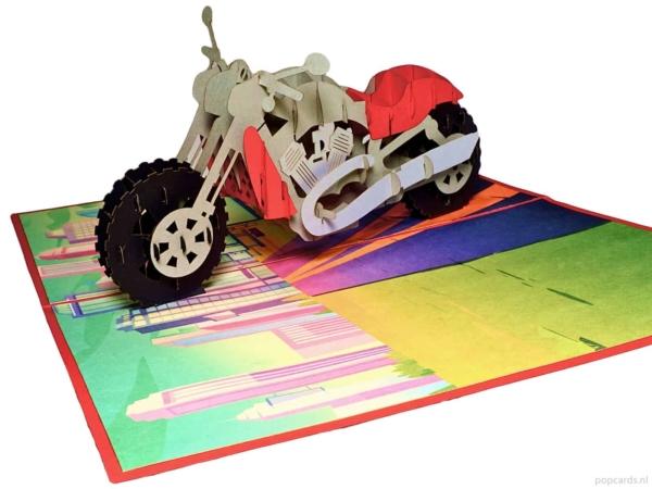 Popcards Pop-Up Cards - Motorbike Motorcycle Route 66 Pensionamento Vacanze Compleanno Congratulazioni motociclismo harley davidson honda goldwing mezza età crisi biglietto di auguri 3d card