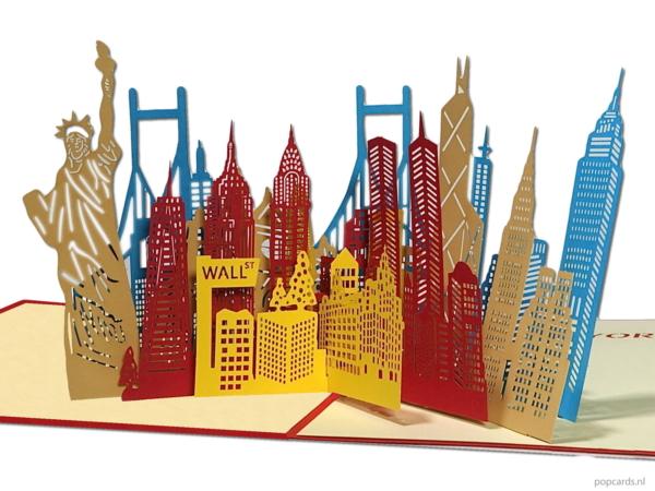 Popcards.nl Popup-Karte - New York City Manhattan Big Apple Freiheitsstatue City Trip Urlaub Popup-Karte 3D-Grußkarte